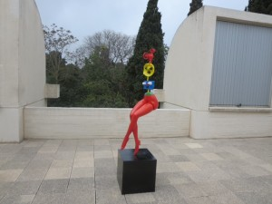 Young Girl Escaping By Joan Miro