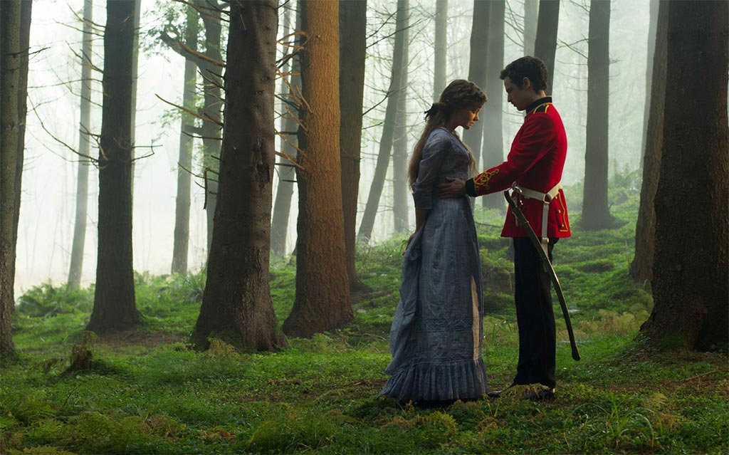 Carey Mulligan and Tom Sturridge play a game in a Hollow Amid the Ferns in Far From the Madding Crowd