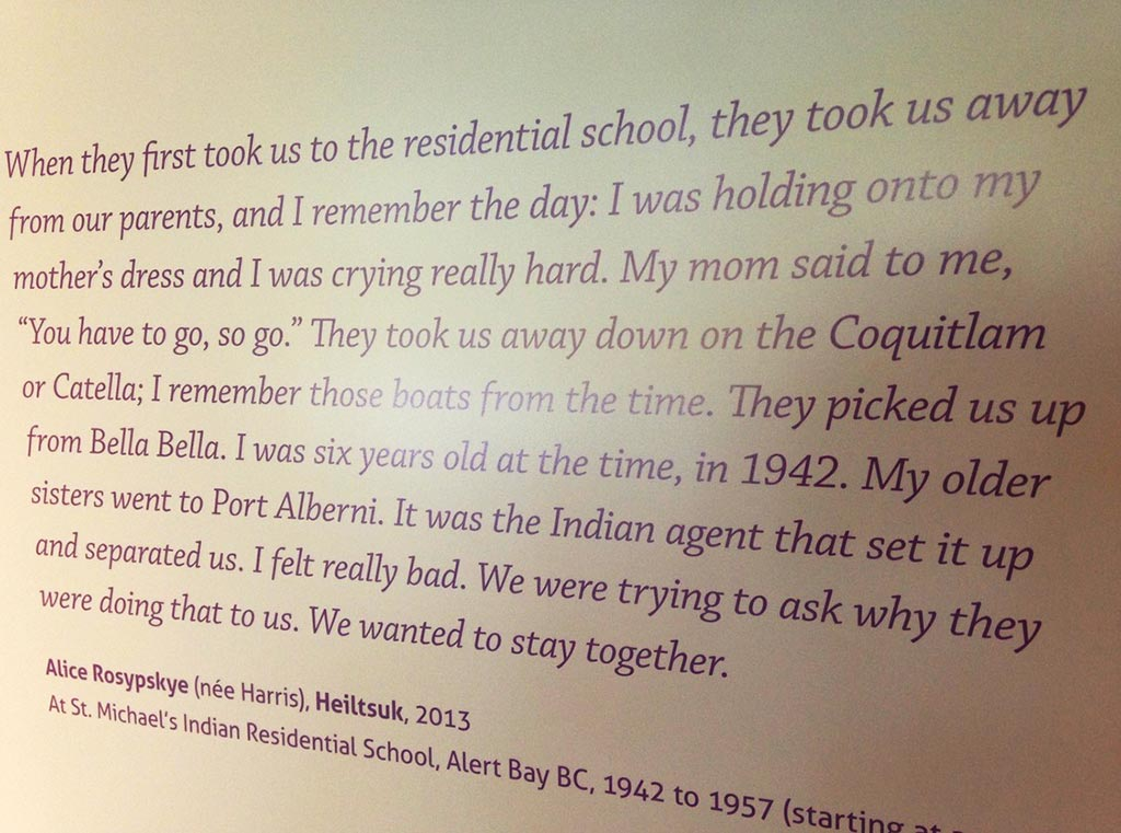 Plaque commemorating Residential School survivor