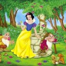 Snow White surrounded by the grandparents of Joy and Disgust