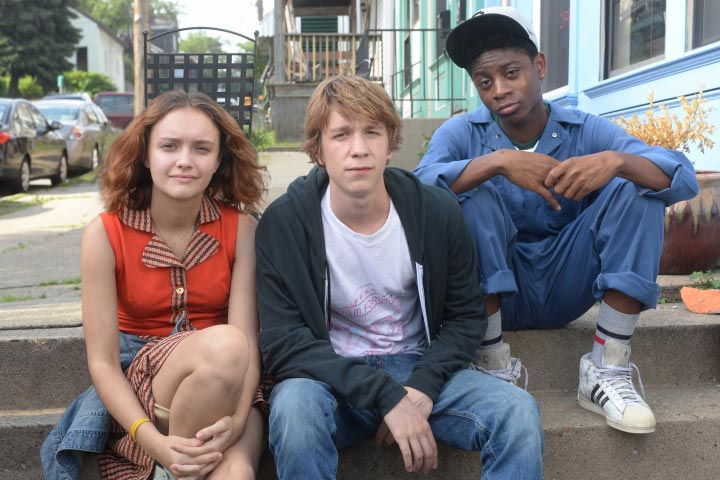 Olivia Cooke, Thomas Mann and RJ Cyler as film-loving friends
