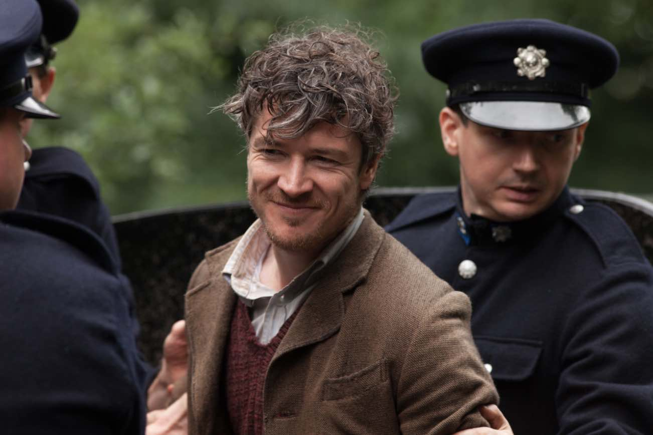 Movie still from Jimmy's Hall, featuring Barry Ward as Jimmy