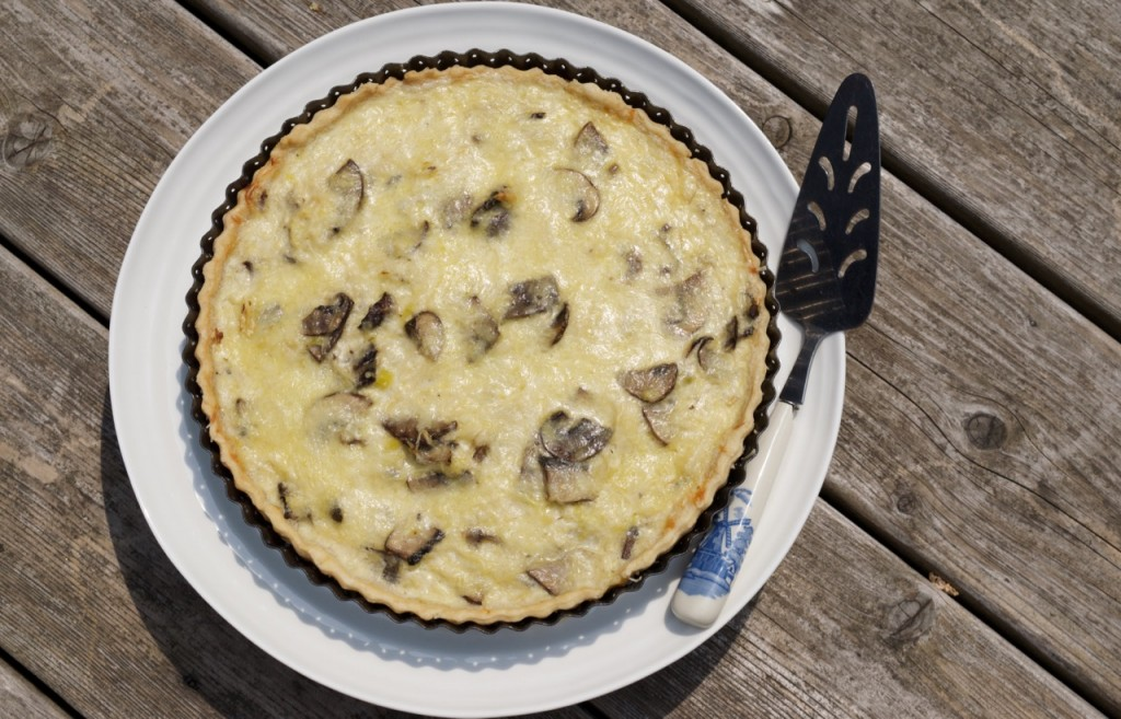 Leek and Mushroom Quiche, photo by Louise Crosby