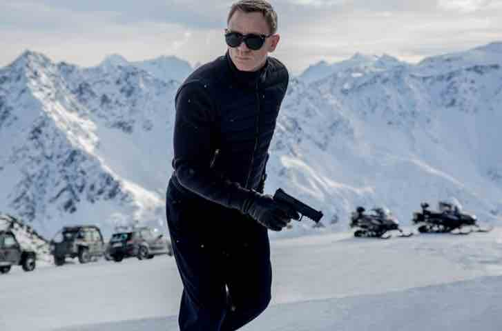 Daniel Craig cuts a handsome figure, and looks better than most in a black turtleneck.