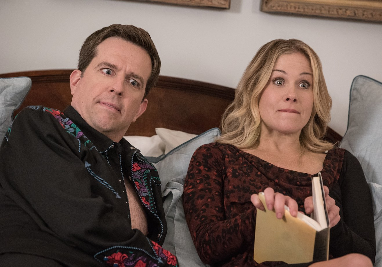 Ed Helms and Christina Applegate in Vacation