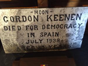 """Gordon """"Moon"""" Keenan's plaque in Cumberland, Ontario"""