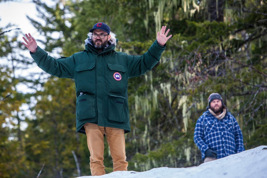 Cameron Labine and Tyler Labine in Mountain Men