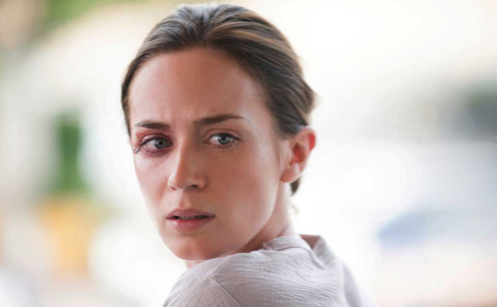 Emily Blunt gets a black eye in Sicario