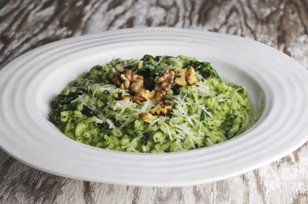 Oven Risotto with Kale Pesto - Photo by Louise Crosby
