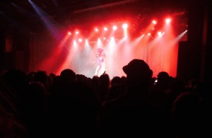 Peaches plays to a packed crowd at the Commodore Ballroom in Vancouver. Katherine Monk photo.