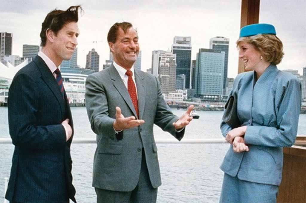 Prince Charles, Bill Bennett and Lady Diana at the opening of Expo 86 in Vancouver