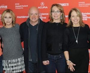 Under the Gun: Director Stephanie Soechtig, Mark Kelly, Gabrielle Giffords, producer-narrator Katie Couric at the Sundance Film Festival