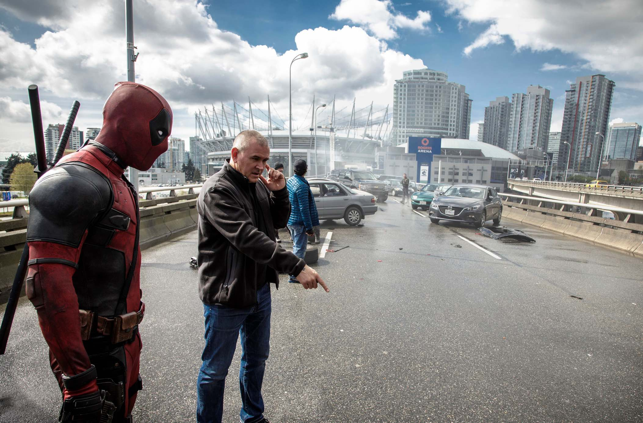 Deadpool Set Ryan Reynolds Tim Miller