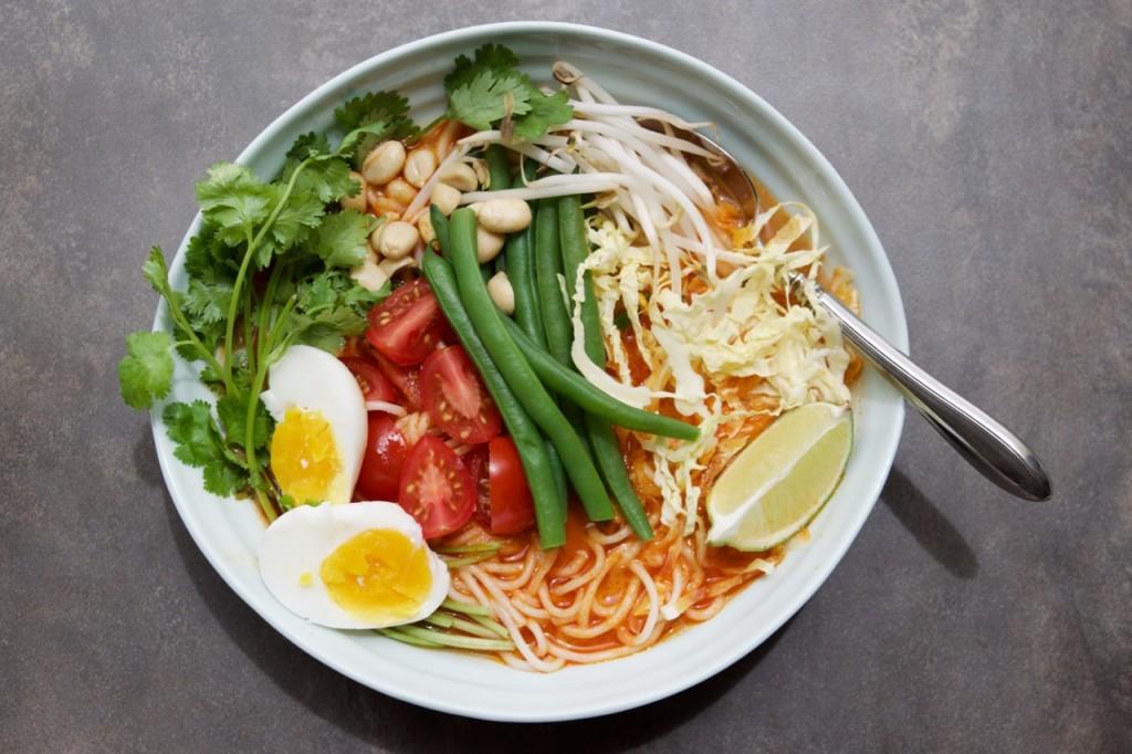 Vegetarian Curry Laksa Recipe Louise Crosby